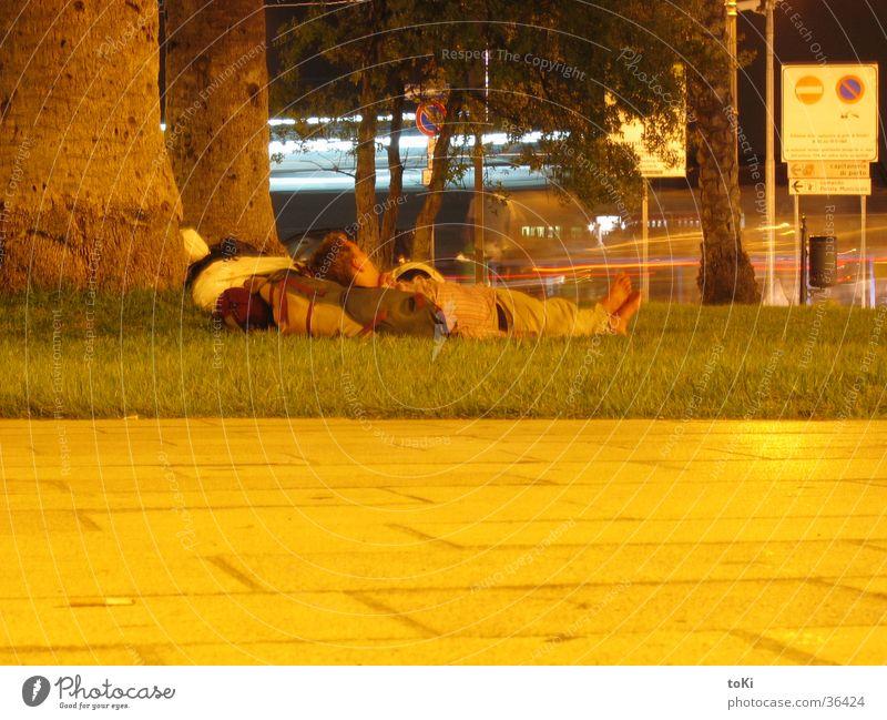 Man Meadow Sleep Italy Apulia Traveling Brindisi province