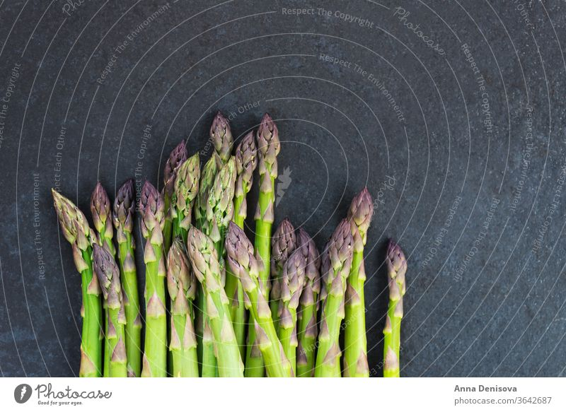 Flavoursome, sweet and tender British asparagus fresh green white raw natural british season detox diet bunch food spring healthy organic meal nutrition