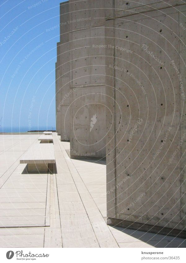 Salk_1 Concrete Architecture International Style USA caliphonies Salk Institute Louis Kahn