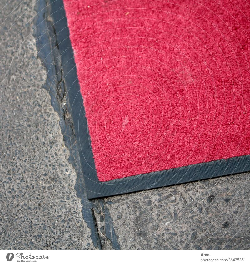 Ready to receive Rug off Stone textile Red carpet Carpet Lie Street bitumen quilted Noble entrance area Receive