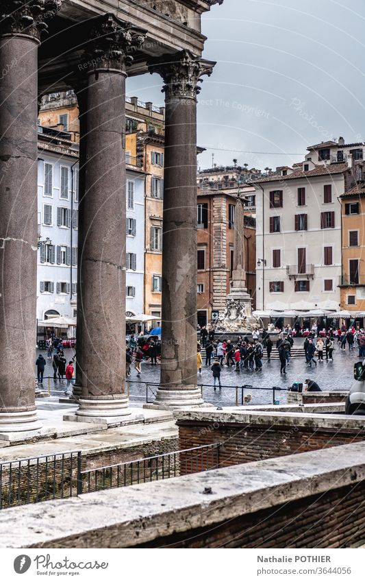 Pantheon in Rome pantheon Italy Vacation & Travel Architecture Religion and faith Tourism Historic Building Old Temple Monument Church Colour photo
