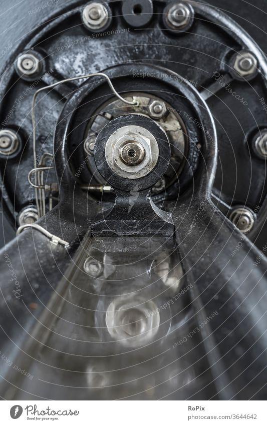 Sliding guide on a historical steam engine. Steam engine Engines Energy Dynamics Movement Gear unit Mechanics technique Machinery machine pinion spur gear