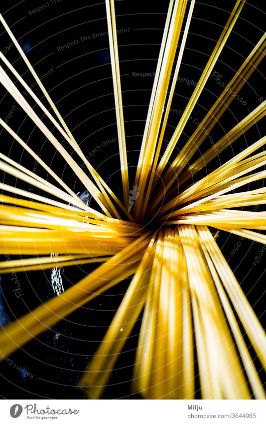 beautiful photography of Spaghetti top view with back light pasta spaghetti food italian meal cuisine dinner noodles cooking dish healthy isolated macaroni