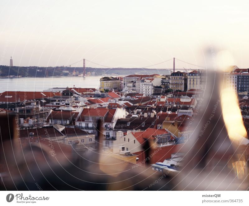 Vacation & Travel City Travel photography Art Tourism Esthetic Bridge Wanderlust Mediterranean Capital city Snapshot South Bottle Portugal Lisbon Traveling