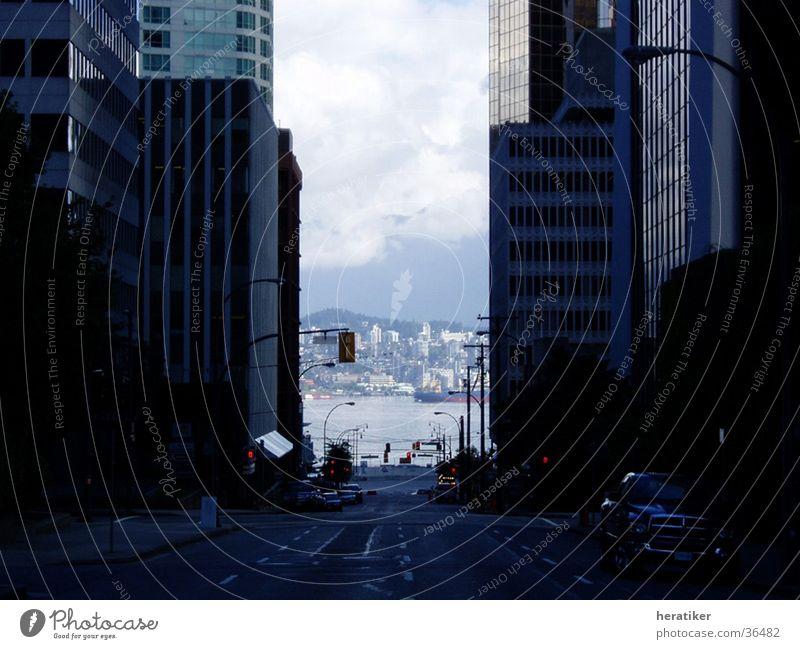 City Building Architecture High-rise Vista Vancouver Canada Urban canyon High-rise facade