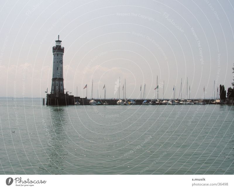 Water Lake Moody Europe Lighthouse Lake Constance Lindau