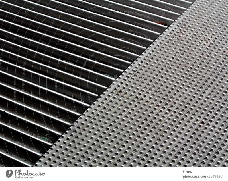 Metallica I Surface Grating nap Floor covering Iron Steel sunny Sunlight Shadow Sync and corrections by n17t01 Safety tread-resistant lines points Pattern