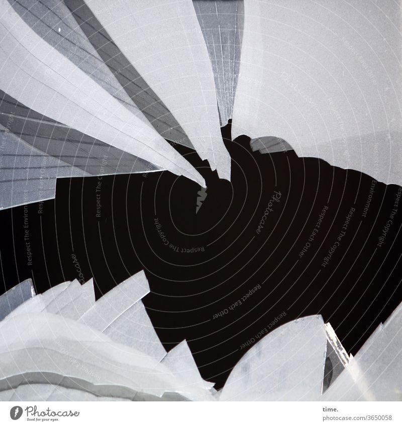 Guys, go play somewhere else. glass break broken windscreen Slice Glass transparent Inspiration spooky mystery Puzzle Slivered shards Broken demolished peak