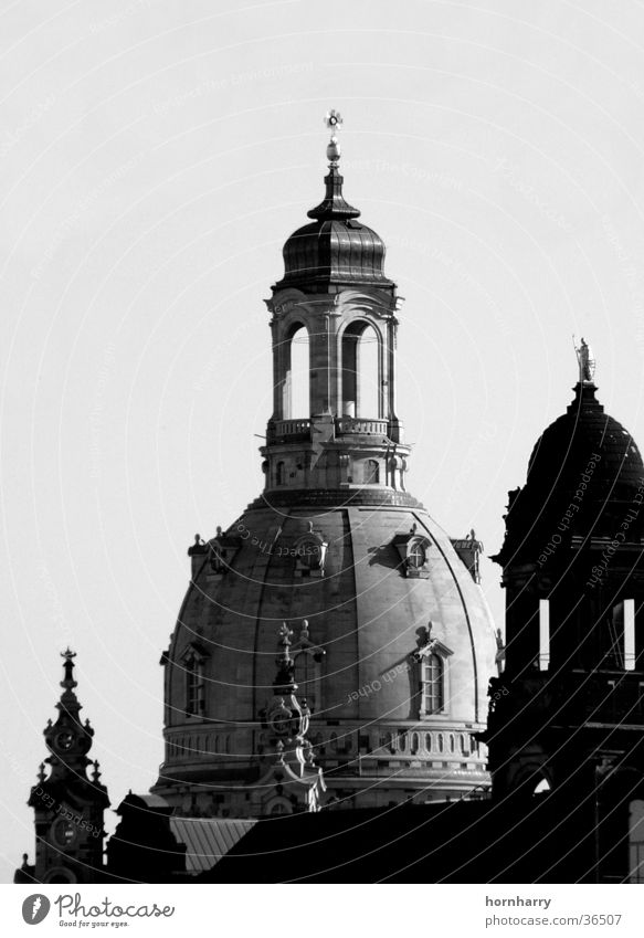 Stone dome Domed roof Sandstone Bell Dresden Renewal War Reconciliation House of worship Frauenkirche Religion and faith Tower