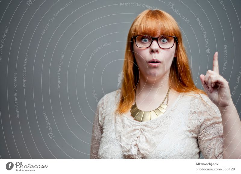 I know something! Feminine Young woman Youth (Young adults) Woman Adults 1 Human being 18 - 30 years Red-haired Bangs Think Hip & trendy Curiosity Smart Crazy