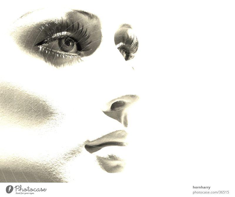Woman Beautiful White Face Eyes Mouth Nose Lips Doll Cheek Pallid Eyelash Mannequin Portrait photograph Duplex