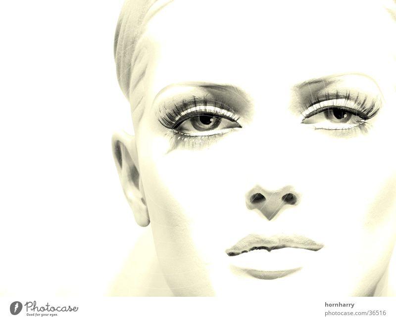Woman Beautiful White Face Eyes Mouth Nose Lips Doll Cheek Pallid Eyelash Frontal Mannequin Duplex