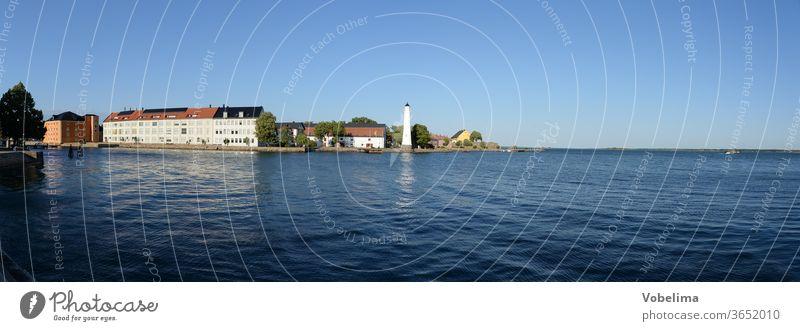 lighthouse near Karlskrona, Sweden Europe Building coast Lighthouse Ocean Northern Europe Baltic Sea Scandinavia tiurm trossoe Water White panorama
