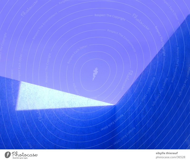 Sky Blue Wall (building) Building Architecture Perspective Corner Shaft of light