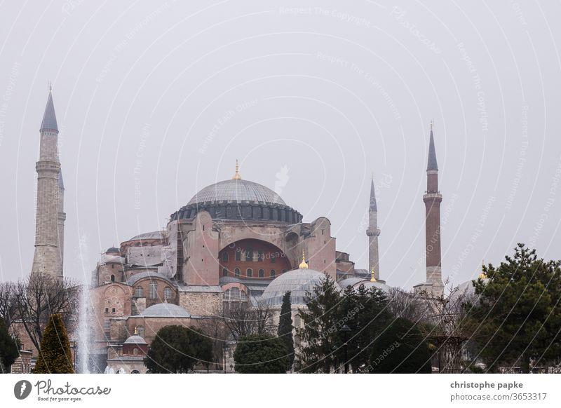 Hagia Sophia in Istanbul turkey Mosque Architecture Tourist Attraction Minaret built Church Museum Exterior shot Colour photo Manmade structures Landmark