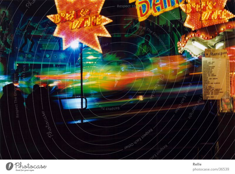 Green Red Speed Fairs & Carnivals Swing Rotate Breakdance Neon sign Theme-park rides Spirited Centrifugal force