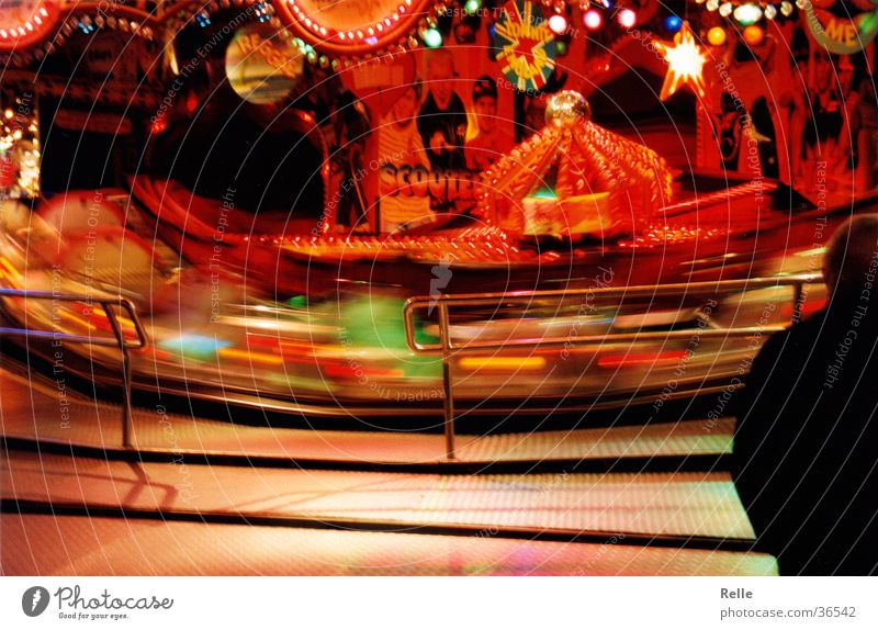 Red Speed Fairs & Carnivals Swing Section of image Rotate Theme-park rides Spirited Centrifugal force