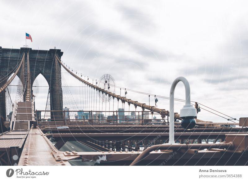 Details of the Brooklyn Bridge in New York City new york city manhattan america usa nyc american landmark empire architecture details urban downtown midtown
