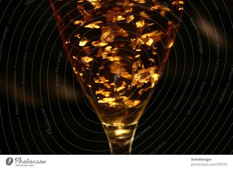 Black Glass Gold Beverage Alcoholic drinks Cocktail Sparkling wine Decadence