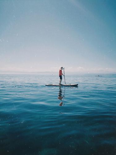 sup sup sup... stand up paddeling paddeln Wasser See Sommer Sport Freizeit Erholung Wassersport Bodensee