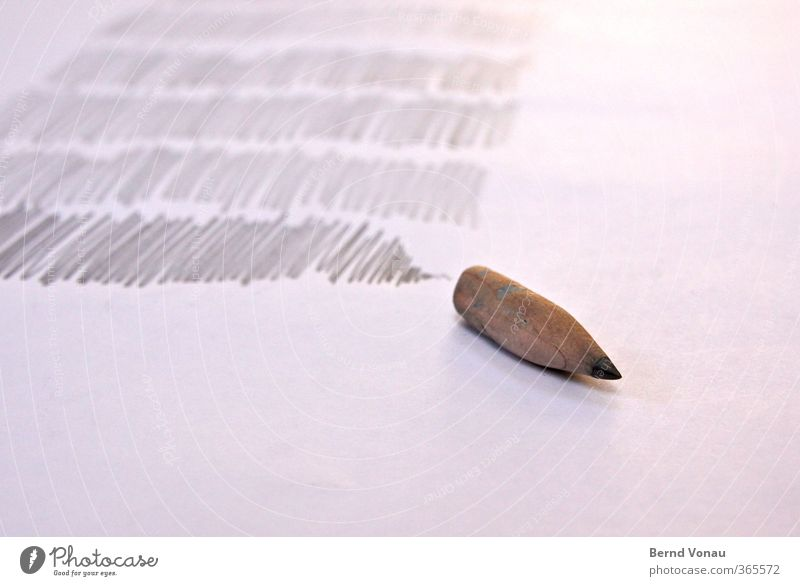 I can't go on! Paper Pen Write Gray Pencil Work break Closing time Completed End Abrasion used Home Exhaustion Pieceworker Work and employment Colour photo