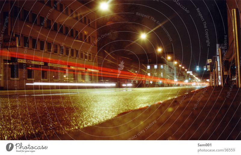 street Long exposure Speed Dark Transport Street Light Car Evening