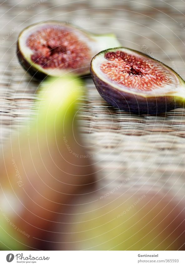 fig halves Food Fruit Nutrition Organic produce Vegetarian diet Diet Slow food Fresh Delicious Sweet Fig Fruity Colour photo Interior shot Copy Space bottom
