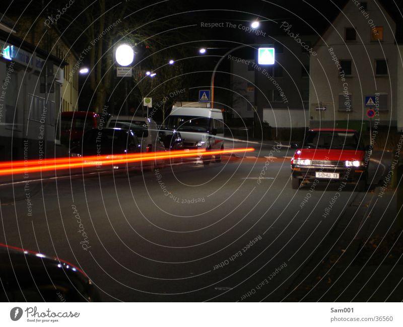 Street Dark Car Transport Reaction