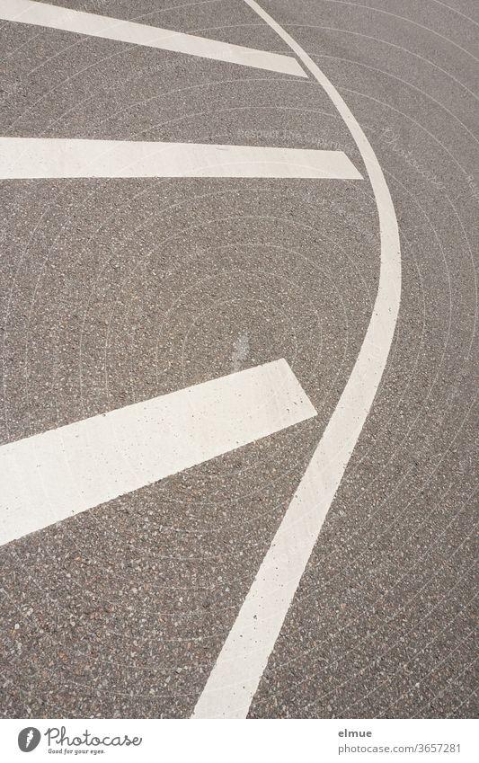 Marking of a barrier area on an asphalt road Lane markings restricted area Traffic lane Traffic infrastructure Asphalt Structures and shapes Street