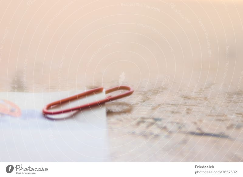 Paper clip minimalistic Shallow depth of field minimalism Workplace structure hazy Close-up Deserted Creativity Detail Macro (Extreme close-up) Interior shot