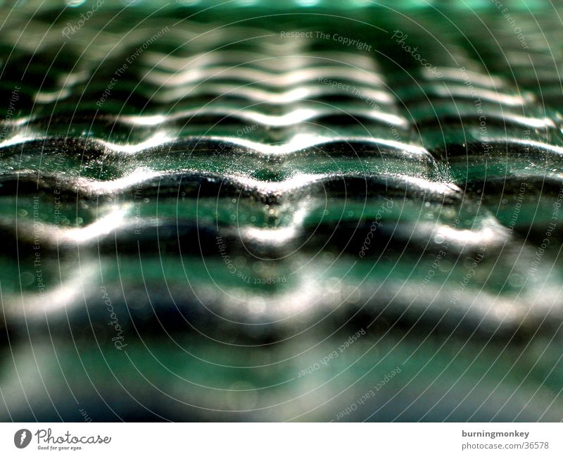 wave glass Green Photographic technology Glass Window pane Lens Uneven Macro (Extreme close-up) Deserted Reflection Central perspective Abstract Undulation
