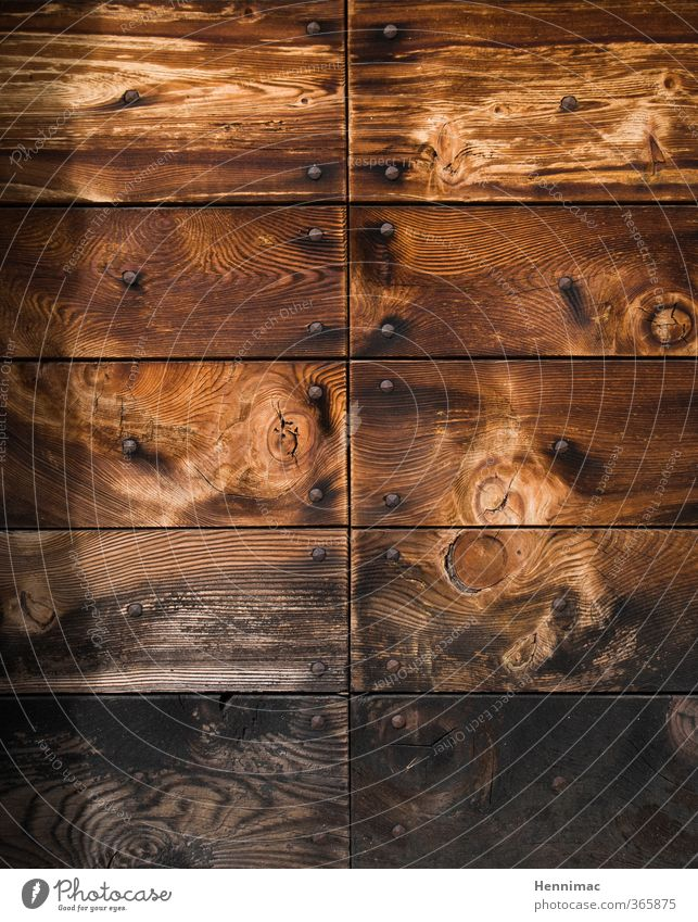 Untreated. Art Nature Wood Old Brown Gray Black Style Transience Wood grain Plank Structures and shapes Nail Detail Door Panelled Wooden floor Weathered Rough