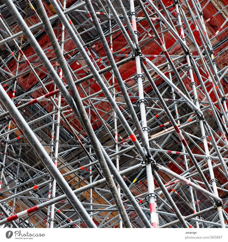 scaffolding construction Construction site Architecture Line Build Exceptional Many Crazy Chaos Change Scaffold Background picture Colour photo Exterior shot