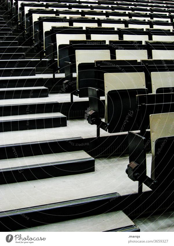Chair landscape Row of seats Seating capacity Incline Empty Event Academic studies Black Places Lecture hall Education Audience folding seat university graduate