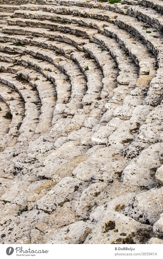 The steps of the amphitheatre in Segesta (Sicily). It was built in Greek style in the 3rd century BC. I wonder what one has already admired from these places...