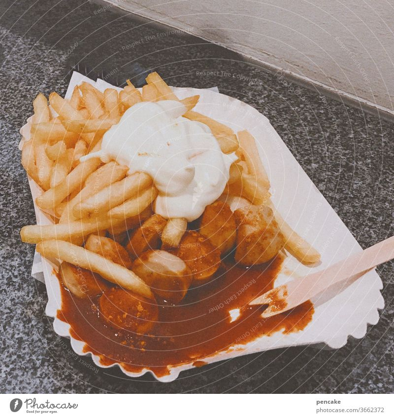 retrofood French fries Hotdog Eating Fast food Retro Mayonnaise Fat Food Appetite Delicious Unhealthy Ketchup Snack bar paper plates