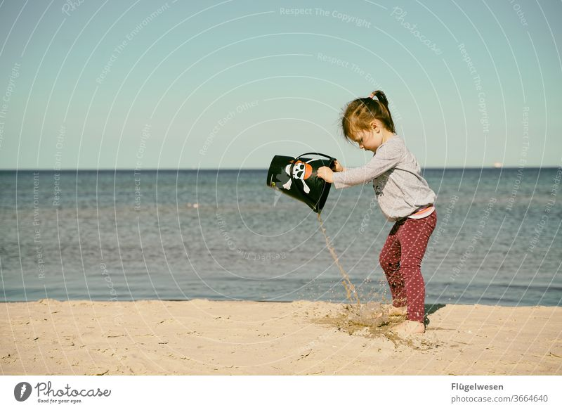 Little Pirate Bride I Pirate costum piracy pirate ship pirate flag pirate bride Beach Beach dune Walk on the beach Beach life Ocean Sea water Bottom of the sea