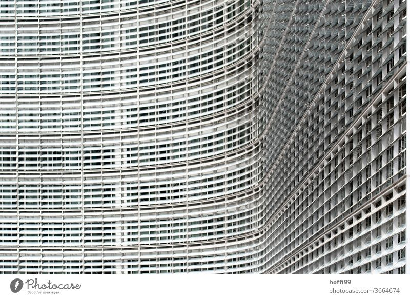 curved facade - European Commission Facade Window curved glass façade Glas facade Architecture built Glass High-rise House (Residential Structure)