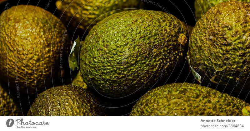 avocado Avocado Food Colour photo Delicious Vegetarian diet Healthy fruit green Organic produce Healthy Eating Vegan diet Close-up Food photograph Vitamin-rich