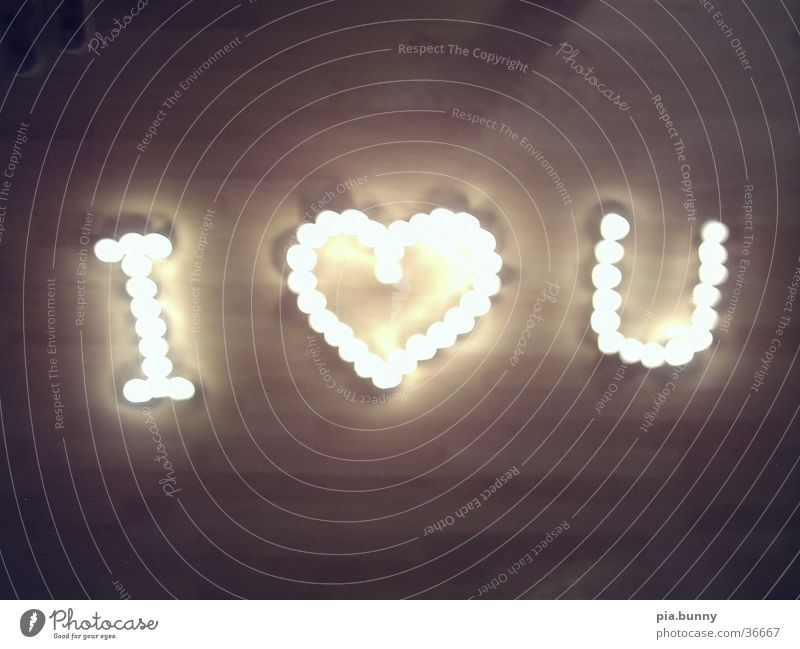 I love you Candle Things Love Light (Natural Phenomenon)