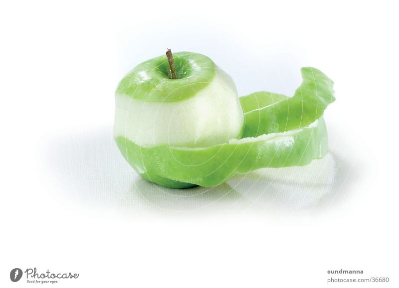 of the poodle core Apple Nutrition Bowl Healthy Green Chopping board Still Life Sheath Molt Spiral Isolated Image Shadow