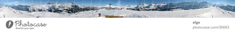 400° panorama from Betelberg Panorama (View) Switzerland Bernese Oberland Snow mountain Mountain all-round panorama Alps Swiss Alps steering wildlife bustle