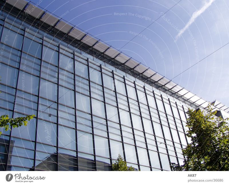 glass house House (Residential Structure) Building Mirror Clouds Architecture Glass
