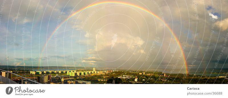 Rainbow over Plano Piloto / Brasilia DF Brazil Panorama (View) South America C. metropolitan Torre do TV Capital city Large Panorama (Format)