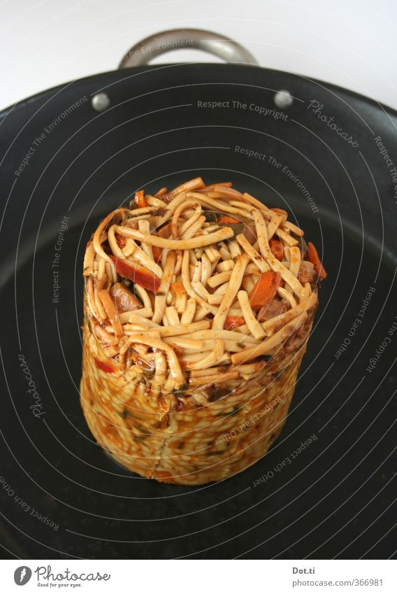 Black Food Nutrition Cooking & Baking Delicious Noodles Block Comfortable Heat Fast food Pan Asian Food Prepare the food Voracious Cylinder Tin