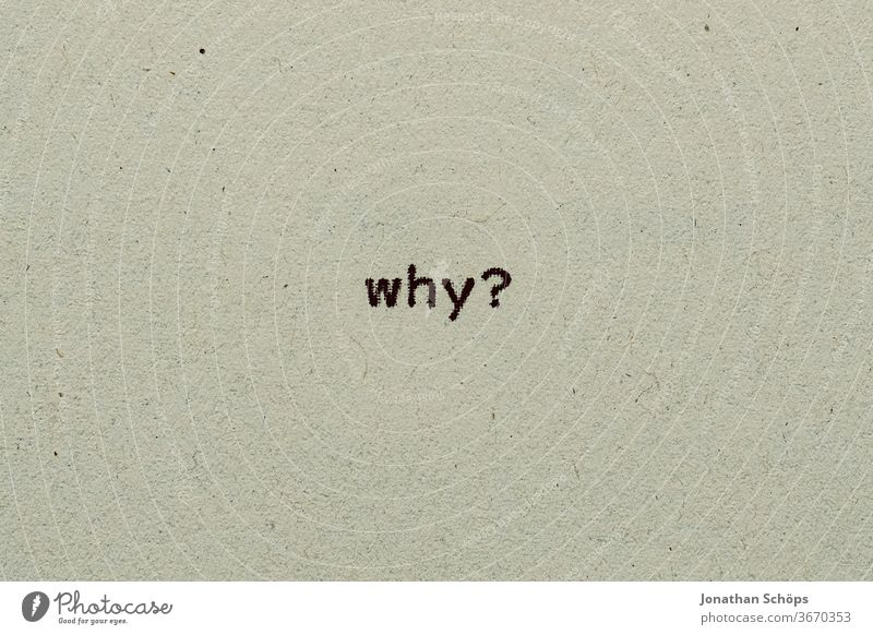 why as text on paper with typewriter Answer corona corona crisis coronavirus covid-19 question Paper Recycling Typewriter writing typography Analog English
