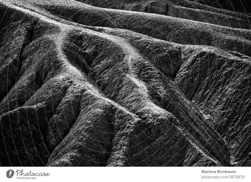 Sandstone structures at Zabriskie Point in the Death Valley National Park valley point death zabriskie texture formations black and white landscape desert