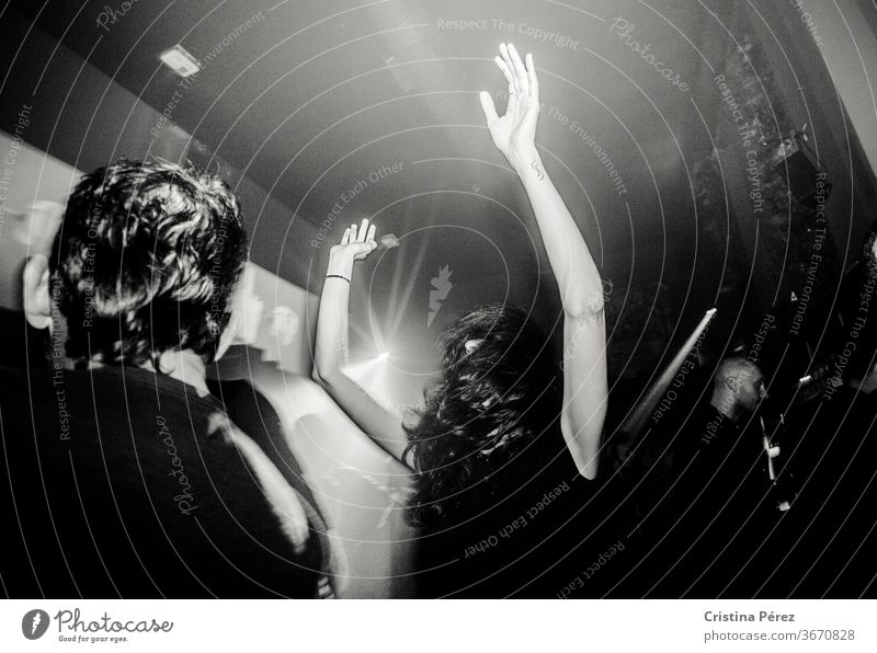 Night party Night life Club Funny Party Black & white photo Dance dancing
