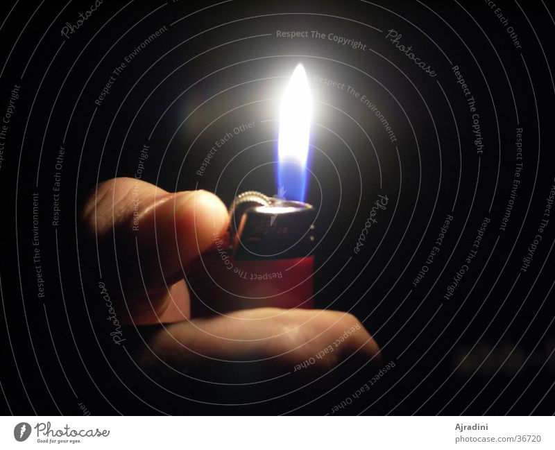 Living or residing Flame Thumb Lighter Ignite