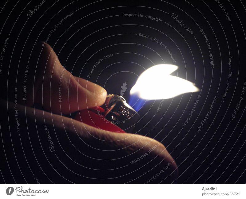 Flame flees Lighter Thumb Living or residing air blast Fleeing Flame